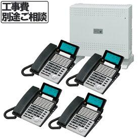 【中古】ビジネスホン 主装置 4台セット 電話 ビジネスフォン 新規開設 事務所 36ボタン ナカヨ NYC-36iE-SD(B)2 地域限定送料無料