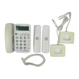 【エントリーでポイント10倍!8/2-8/9】【中古】電話機 子機2台 コードレス 留守番電話 JD-G30CW シャープ 送料無料
