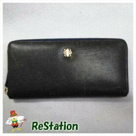 【新同】ITALIAN LEATHER ラウンドジップ財布【未使用だから安心です】