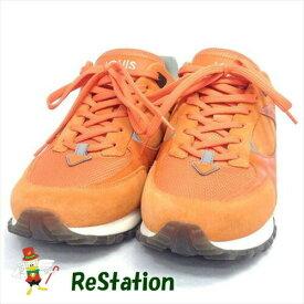 【中古】ルイ・ヴィトン LOUIS VUITTON Run Away オレンジ スニーカー シューズ 革 レザー