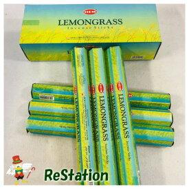 【新品】Hemレモングラスお香スティックインセンス インド製 20Sticks x 6パック