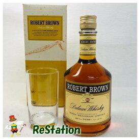 【未成年の飲酒は法律で禁じられています】【愛媛県民在住限定】ロバートブラウン ウイスキー 日本 750mlグラス付き43度箱付き