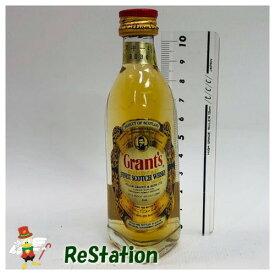 【未成年の飲酒は法律で禁じられています】グランツ特級50ml43度standfast三角ボトルスコッチウイスキーミニチュア