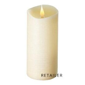 エンキンドル ラスティクピラー 3×7 アイボリー<LEDキャンドル><火を使わないキャンドル>【倉庫U】