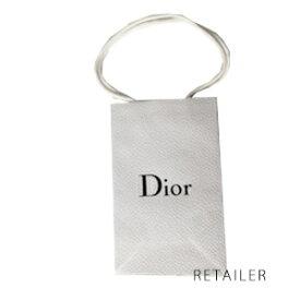 即納★ #中【Christian Dior】クリスチャンディオールショップバッグ 中 約縦22cm×横14cm<ショッピングバッグ><ショップ袋><手提げ・手さげ・紙袋><Mサイズ>