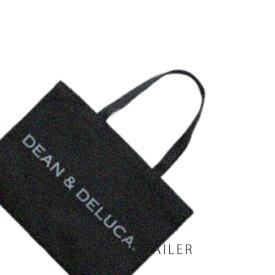 ♪#ブラック Lサイズ【DEAN & DELUCA】ディーンアンドデルーカトートバッグ<オリジナルトートバッグ><コットン製><ディーン&デルーカ>