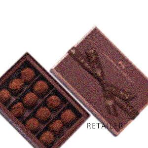 ♪ 12粒入【LA MAISON DU CHOCOLAT】ラ・メゾン・デュ・ショコラトリュフ プレーン 12粒入<チョコレート><カカオパウダー><お菓子><ガナッシュムース>※クレジット決済のみ※