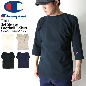 Champion (champion) 3 / 4 sleeve football t-shirt / 7 sleeves T shirt sewn plain