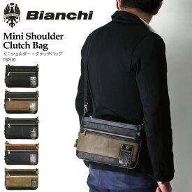 【送料無料】Bianchi(ビアンキ) ミニショルダーバッグ クラッチバッグ フェイクレザー ボディバッグ ショルダーバッグ メンズ レディース【コンビニ受取対応商品】