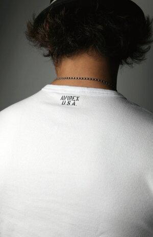 【送料無料】AVIREX(アビレックス)アヴィレックスクルーネックロングTシャツカットソーTシャツロンTデイリーシリーズメンズレディース