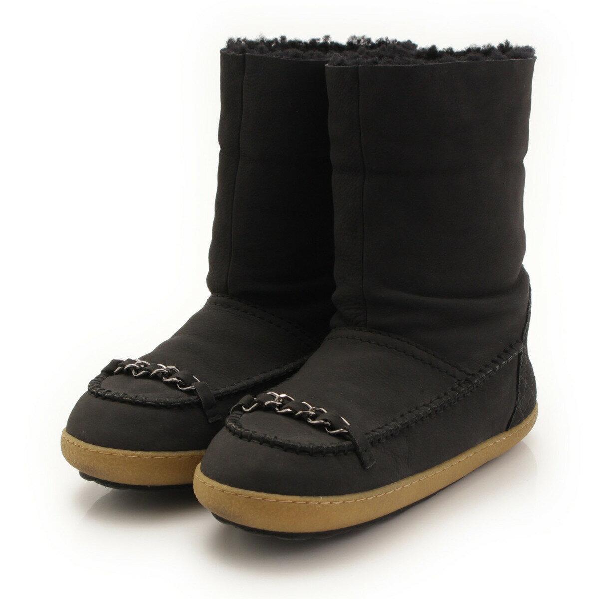 【スーパーSALE 絶賛開催中】【シャネル】Chanel ムートン レザー チェーン ブーツ ブラック 35 【中古】【鑑定済・正規品保証】【送料無料】33592