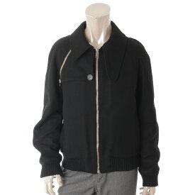 【ディオールオム】Dior Homme メンズ ウール ブルゾン ジャケット ブラック 48 【中古】【鑑定済・正規品保証】68909