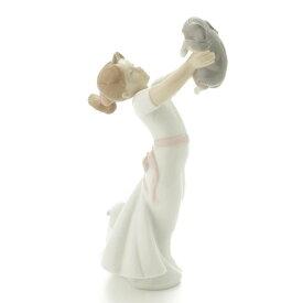 【ソノタ】 リヤドロ 大好きよ 少女 犬 陶器人形 置物 インテリア 8032 【中古】【鑑定済・正規品保証】77811