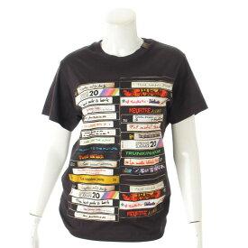 【ルイヴィトン】Louis Vuitton 20SS VHSビデオ プリント Tシャツ モノグラム ロゴ ブラック S 未使用【中古】【鑑定済・正規品保証】101388