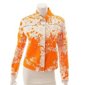 【エルメス】Hermes マルジェラ期 Cheval Surprise シルク混 ジャケット オレンジ SM 【中古】【鑑定済・正規品保証】104065