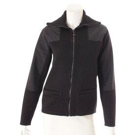 【シャネル】Chanel スポーツ 02A ジップアップ ニット ブルゾン セーター P19886 ブラック 40 【中古】【鑑定済・正規品保証】126880
