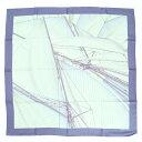 【エルメス】Hermes カレ90 シルクスカーフ VENT PORTANT 2 【中古】【鑑定済・正規品保証】【送料無料】22248