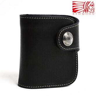 過過定制由皮革短錢包兩折、 二折錢包 HR 01A 中期黑色男裝兩個錢包