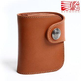 過過定制兩折錢夾 HR 01A 中期茶色紅棕色男式兩折短錢包錢包皮革