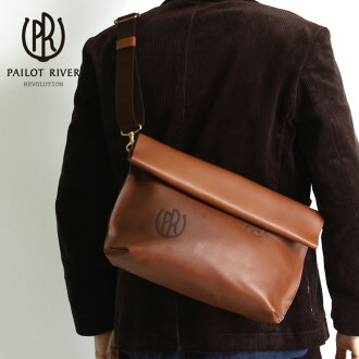 PAILOT RIVER pilot river shoulder bag PR-OVNM-SBW men's bags bag leather