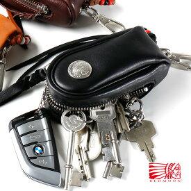 REDMOON レッドムーン Large Size GloveLeather Key Bag ラージサイズ グローブレザー キーバッグ RM-KBLZ[メンズ 男物 本革 レザー キーケース 日本製 職人 匠 おしゃれ かっこいい 大人 彼氏 男性 プレゼント ゼットコイン スマートキー リモートキー 大容量 大きい]