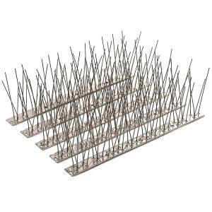 【あす楽】鳥よけ 鳩よけ 鳩よけ対策に 10.2CMのステンレス針のとげマット 鳩の侵入を物理的に撃退 ベランダ 屋上 屋根 手すりなどあらゆる場所に設置可能 33cm×10個入|鳥よけグッズ 鳥 よ け