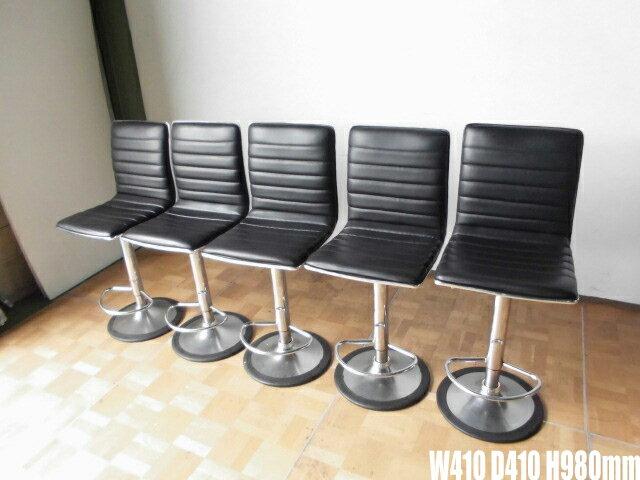 【中古】厨房 店舗用カウンター椅子5脚セット BW410 D410 H980mm