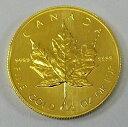 メイプルリーフ金貨 1/2オンス メイプル金貨 カナダ王室造幣局発行 1987年 24金 K24 純金 エリザベス メープルリーフ 品位99.99% USED-...
