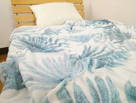 涼感 タオルケット シダ柄 シングル 140×190cmクール 冷感 涼しい 夏用 洗える ブランケット 寝具 おしゃれ 接触冷感 cool 猛暑対策