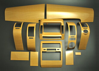 Prius (NHW20) series 20 Interior Panel 12-piece set eucalyptus tea wood and piano black