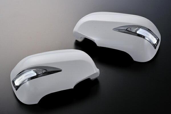 【Revier(レヴィーア)】クラウン18系/マジェスタ18系LEDライトバーLS600ルックメッキリム付LEDウインカードアミラーカバー交換タイプ塗装済202/062/1C0/1F2/1F7LEDウインカーミラー/LEDドアミラー/180
