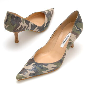 Pumps /PS / heel 6cm that the camouflage handle ☆ line is clean [ROSSINI]