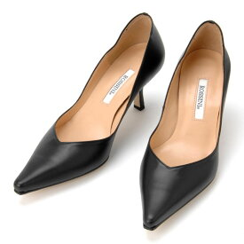 【ROSSINI】ラインがきれいなプレーンパンプス/6cmヒール ☆21.5cm〜25.5cmまで☆在庫切れでも作れます♪ 黒 Black ブラック フォーマル 靴 シンプル キレイ 綺麗 日本製 21.5 25.5 レディース