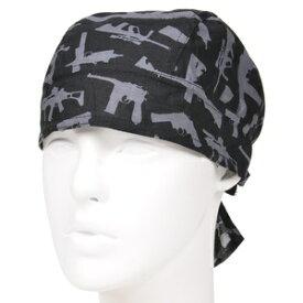 ROTHCO ヘッドラップ 銃 5197 [ ブラック ] ロスコ ミリタリーバンダナ バンダナキャップ 布キャップ 布帽子 バンダナ帽子