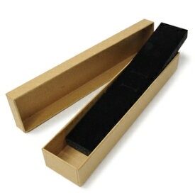 ギフトボックス 貼り箱 22.5×5×3cm アクセサリーケース [ ブラウン / 1個 ] プレゼントボックス ジュエリーBOX 厚紙 スポンジ付き ラッピング パッケージ 無地 収納 梱包資材 梱包用品 発送資材 荷造り資材 荷造り用品