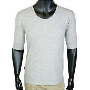 AVIREX 5分袖Tシャツ 無地 デイリー Uネック ワッフル [ グレー / Mサイズ ] アヴィレックス アビレックス 6143508 メンズTシャツ ハーフスリーブ