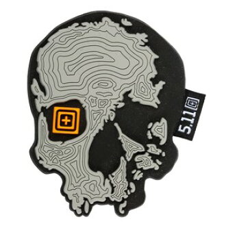 4cda6b0b5ad14 5.11 タクティカル TOPO scull patch 81080  gray  5.11Tactical 511 millimeters  Tully emblem military patch applique badge badge badge epaulet badge badge  of ...