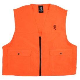 ブローニング 狩猟用 ハンティングベスト ブレイズオレンジ [ Lサイズ ] Safety Blaze Vest ハンティング用品 ロゴ刺繍 ポケット
