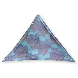 Army surplus tent sheet triangle camouflage Sweden military army disposed of army surplus camouflage outdoor camping