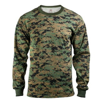 76a2f844f35d0 Outdoor imported goods Repmart: Rothco T shirt long sleeve woodland digital  5494 [m] long T shirts Ron T short sleeve | Rakuten Global Market