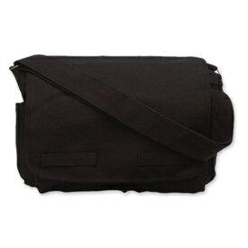 Rothco メッセンジャーバッグ HW クラシック [ ブラック ] ショルダーバッグ かばん カジュアルバッグ カバン 鞄 ミリタリー 帆布 斜めがけバッグ クーリエバッグ ショルダーバック 肩掛けかばん 肩掛けカバン