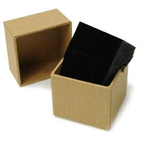 ギフトボックス 貼り箱 5×5×4cm アクセサリーケース [ ブラウン / 1個 ] プレゼントボックス ジュエリーBOX 厚紙 スポンジ付き ラッピング パッケージ 無地 収納 梱包資材 梱包用品 発送資材 荷造り資材 荷造り用品