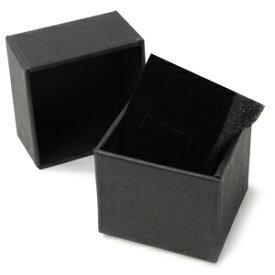 ギフトボックス 貼り箱 5×5×4cm アクセサリーケース [ ブラック / 1個 ] プレゼントボックス ジュエリーBOX 厚紙 スポンジ付き ラッピング パッケージ 無地 収納 梱包資材 梱包用品 発送資材 荷造り資材 荷造り用品