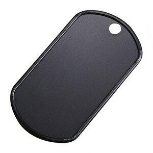 アルミ製 ドッグタグプレート つや消し カラー [ ブラック ] ドックタグ 認識票 DOG TAG つやあり 艶あり つやなし メンズアクセサリー