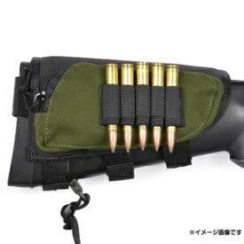 ALLEN カートリッジホルダー ライフル弾5発収納 狩猟 ライフル弾ケース ライフル弾ホルダー ライフルカートリッジケース ストックポーチ 銃床ポーチ 銃床用ポーチ