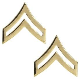 Rothco ピンバッジ アメリカ陸軍 階級章 伍長 2個入 [ ゴールド ] ピンズ ミリタリーバッジ ミリタリーバッチ 記章 徽章 襟章 肩章 胸章 袖章 臂章 ランクバッジ