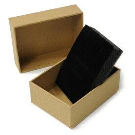 ギフトボックス 貼り箱 8.5×6.5×3cm アクセサリーケース [ ブラウン / 1個 ] プレゼントボックス ジュエリーBOX 厚紙 スポンジ付き ラッピング パッケージ 無地 収納