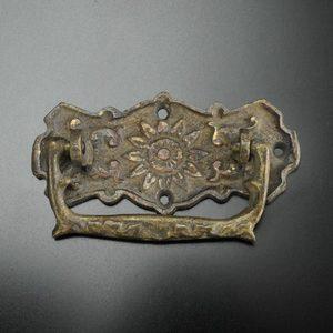 アンティーク 取っ手 サンフラワー 引き出し用 真鍮 取っ手 ブラス しんちゅう 家具 金具 箪笥 たんす ハンドル