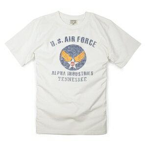 ALPHA 半袖Tシャツ ロゴ AIR FORCE TC1041 [ ホワイト / Mサイズ ] 半袖シャツ アーミーシャツ アサルトシャツ TDUシャツ