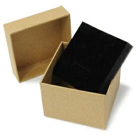 ギフトボックス 貼り箱 8×8×6cm 茶 アクセサリーケース [ 1個 ] プレゼントボックス ジュエリーBOX 厚紙 スポンジ付き ラッピング パッケージ 無地 収納